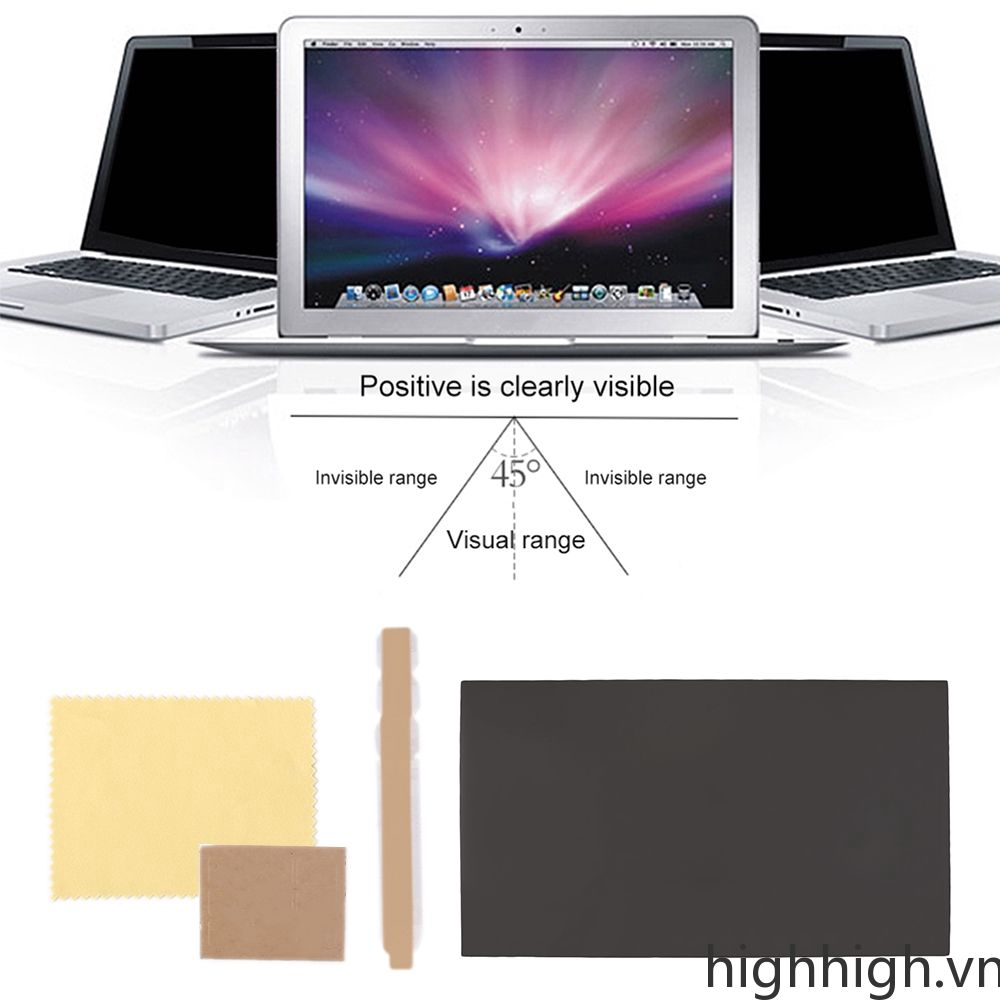 Peep Proof Privacy Protective Film For 14 inch Widescreen Laptop Notebook