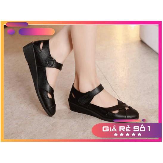 Giày da nữ thời trang - Giày quai ngang , chống thấm nước , chống hôi chân . HÀNG HOT SUMMER 2021