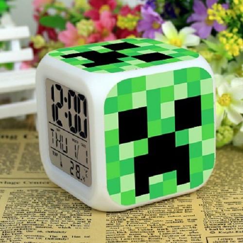 Đồng Hồ Minecraft Cho Trẻ Em - Đeo Tay, Báo Thức
