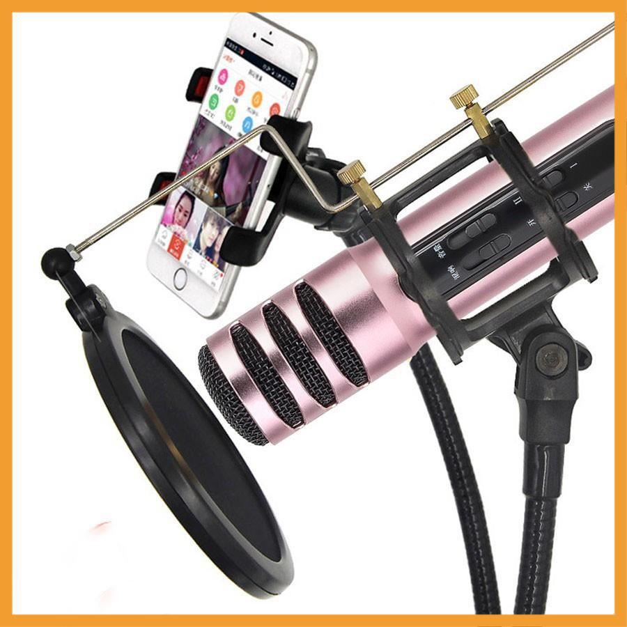 ⚡FREE SHIP⚡ Micro Live Stream C7 + Hát Karaoke Trên Điện Thoại Hỗ Trợ thu âm - chính hãng - BH 3 tháng