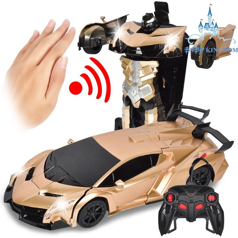 Ô tô điều khiển từ xa biến hình robot cảm biến 1:12