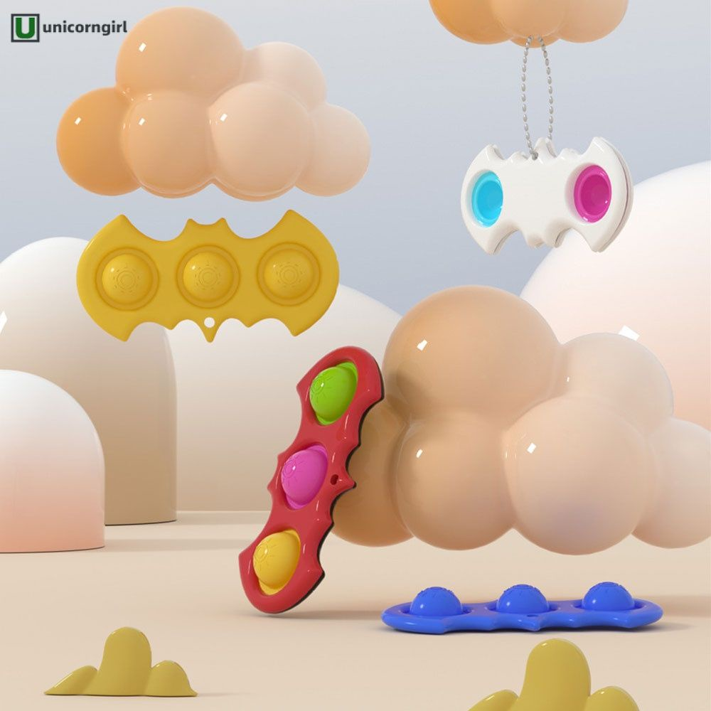 COD Decompression finger bubble music decompression toy keychain fingertip pressing toy @unicorngirl
