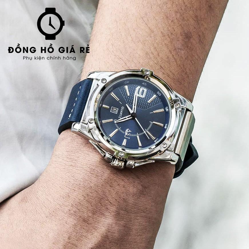 [CHÍNH HÃNG] Đồng Hồ Nam ASJ Sport Máy Nhật, Dây Da Cao Cấp, Chống Nước Chống Xước