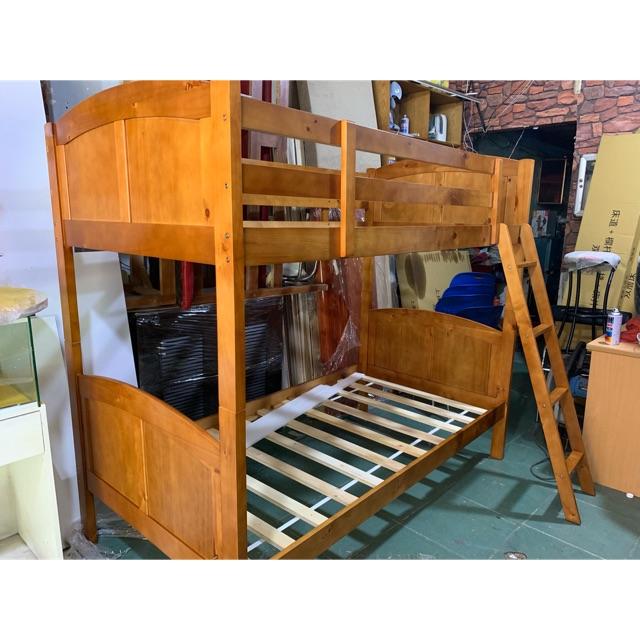 Giường tầng dành cho bé gỗ tự nhiên hàng xuất khẩu new