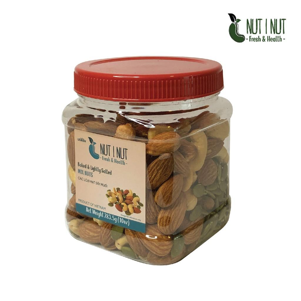 Hạt mix dinh dưỡng NUT I NUT điều bí hạnh nhân sấy muối hũ 283.5 gram