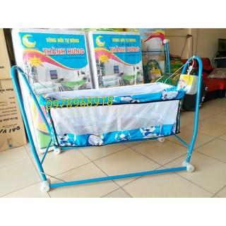 (rẻ vô địch) Nôi điện Võng xếp 2 Trong 1 Quang Hưng(Tặng kèm võng + màn chống muỗi cho bé)