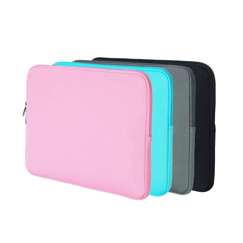 Túi đựng laptop Macbook chuyên dụng nhiều màu và cỡ 11 12 13 14 15 15.6 inch dạng khóa kéo