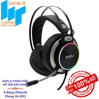 [Mã ELMSBC giảm 8% đơn 300k] Tai nghe Gaming Over-ear Zidli ZH20 Đen Ring RGB