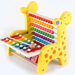 Bàn tính kết hợp đàn hình hươu – đồ chơi gỗ