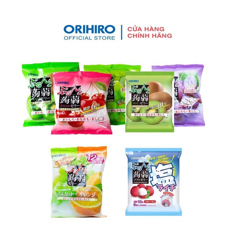 Thạch trái cây Orihiro tách lẻ 1 chiếc ( Đủ vị )