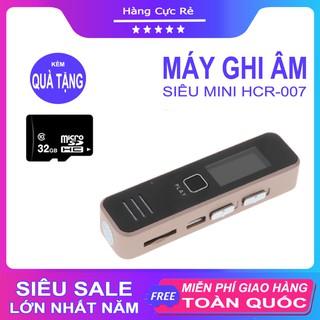 Máy ghi âm mini chuyên nghiệp, kiêm máy thu âm nghe nhạc HCR007 + Tặng thẻ nhớ 32GB - Shop Hàng Cực Rẻ thumbnail