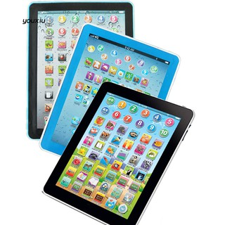 YX❤English Russian Chinese Touch Tablet Computer Machine Educational Kids Toy Gift