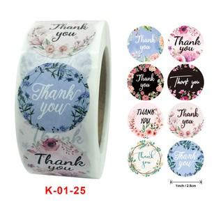 Bán buôn 10 cuộn nhãn dán trang trí quà cưới hoa 500PCS cuộn thumbnail