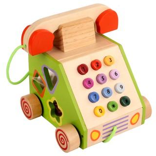 Điện thoại gỗ kết hợp thả hình