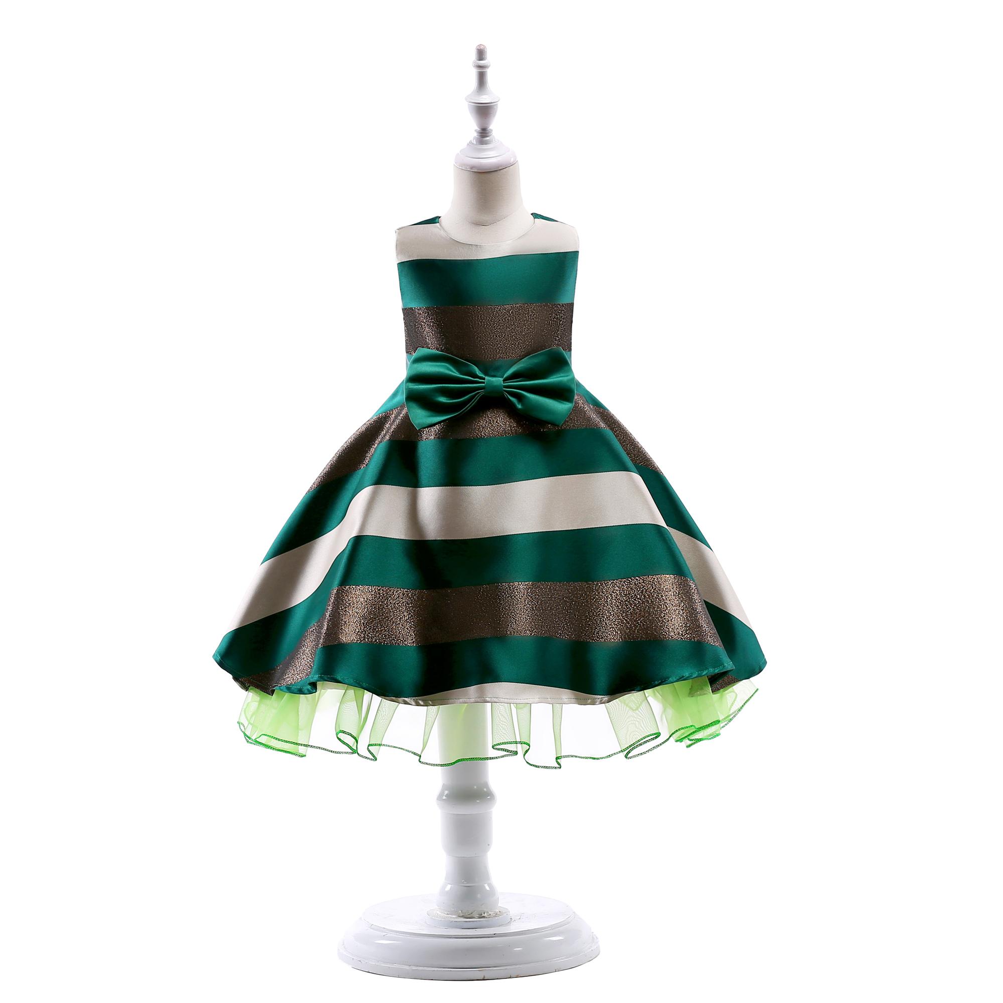 Đầm Xòe Công Chúa Đính Hoa Xinh Xắn Cho Bé Gái váy trẻ em váy cô gái thời trang trẻ em váy cưới mặc dự tiệc