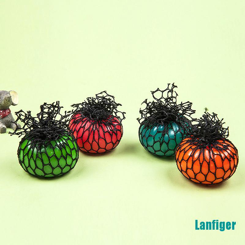 【Lanfiger】Novelty Anti-Stress Squishy Mesh Venting Ball Grape Squeeze Sensory Fruity Toys
