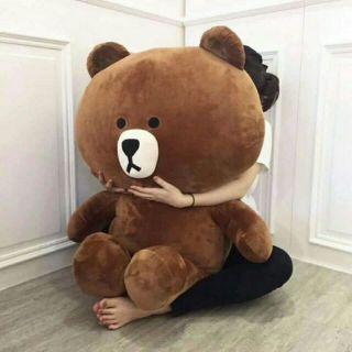 [Mã TOYJAN hoàn 20K xu đơn 50K] Gấu brown siêu hót khổ 1m thumbnail