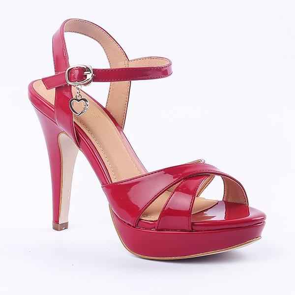 Giày gót cao nữ - Form chuẩn - Giày êm chân - Da bóng tốt