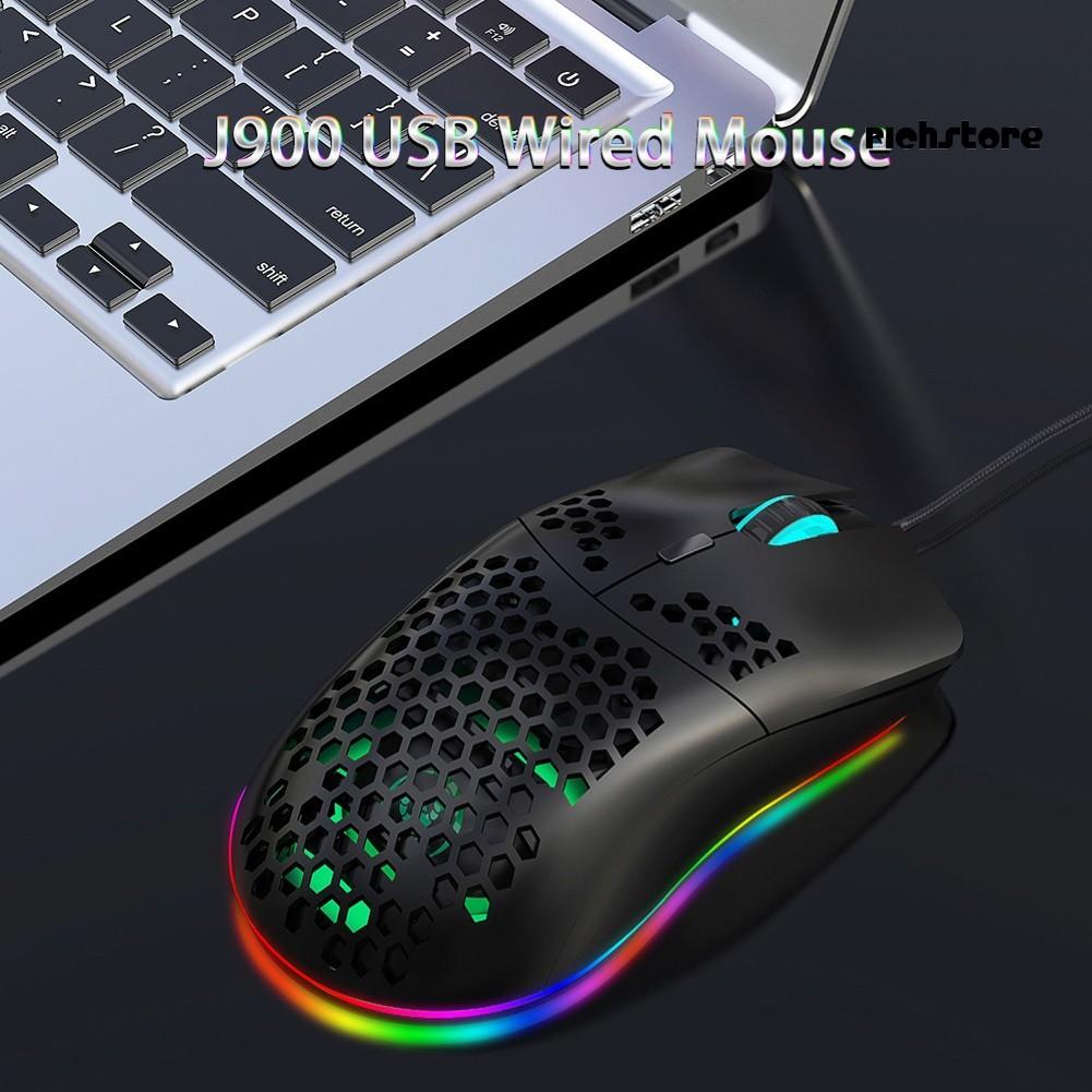 Chuột Gaming J900 Tổ Ong Có Dây 6400dpi Cho Pc / Laptop