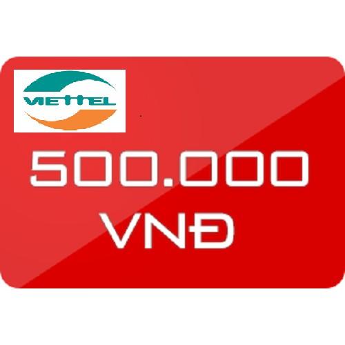 Thẻ nạp điện thoại Viettel 500k