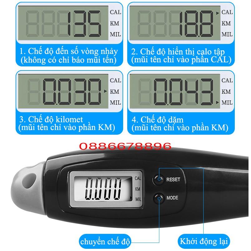 Dây nhảy Lining LBDM780, đếm số, đo Kiloklo, KM... điện tử