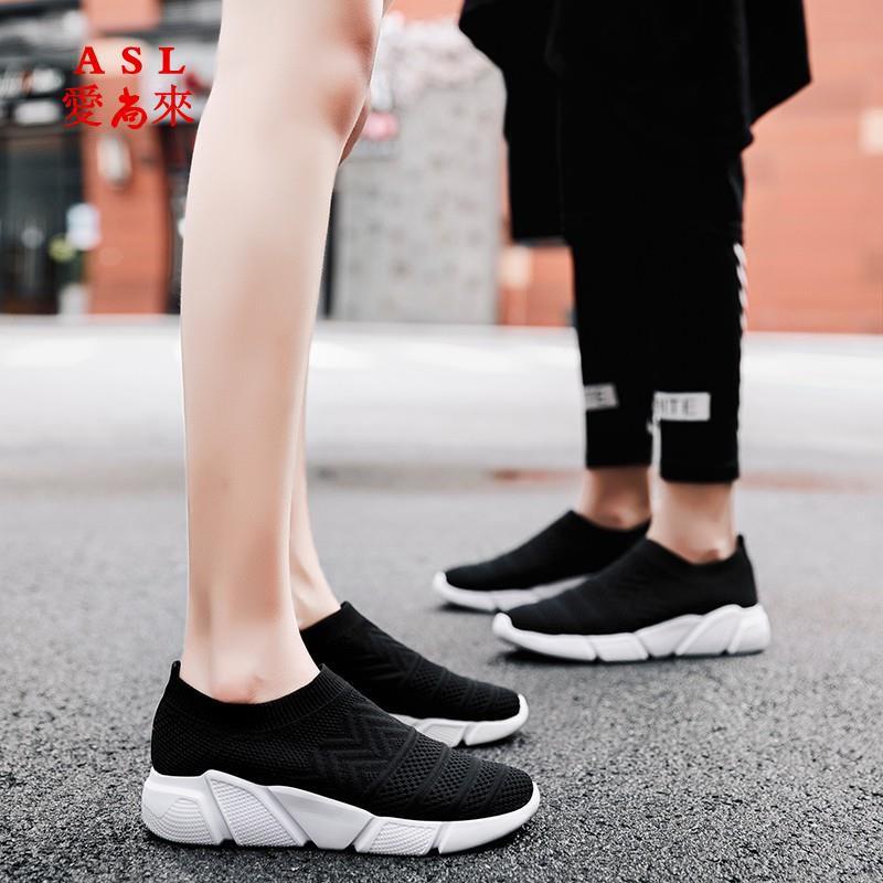Giày Thể Thao Phối Vớ Co Giãn Tốt Thời Trang Cho Nam Nữ