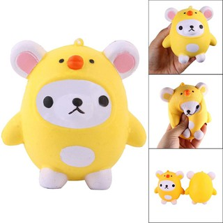 WX_Squishy Slow Rising Cartoon Chick Bear Stress Reliever Kids Adults Squeeze Toys