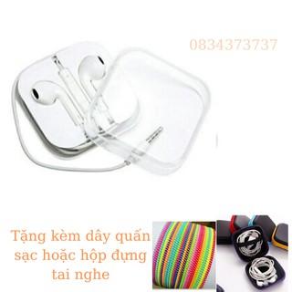 Tai nghe IP4/5g/5s /6/6s/ hàng chuẩn pass ấm căng  cho iphone tặng kèm dây quấn hoặc que chọc sim  bảo hành 6 tháng