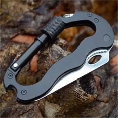 móc khóa leo núi đa năng tích hợp dao + tua vít hợp kim nhôm 5 in 1
