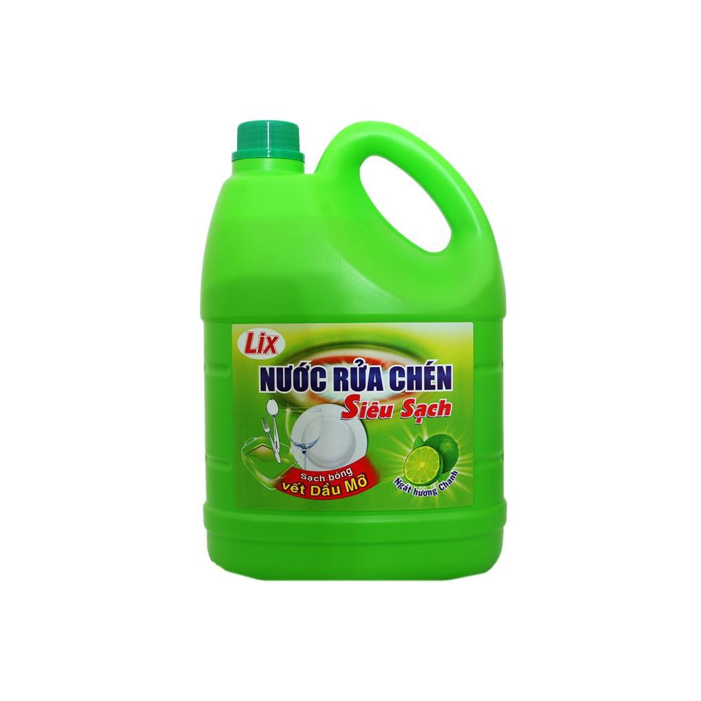 Nước rửa chén Lix Siêu sạch hương Chanh can 4kg - 3487811 , 1120690420 , 322_1120690420 , 89000 , Nuoc-rua-chen-Lix-Sieu-sach-huong-Chanh-can-4kg-322_1120690420 , shopee.vn , Nước rửa chén Lix Siêu sạch hương Chanh can 4kg