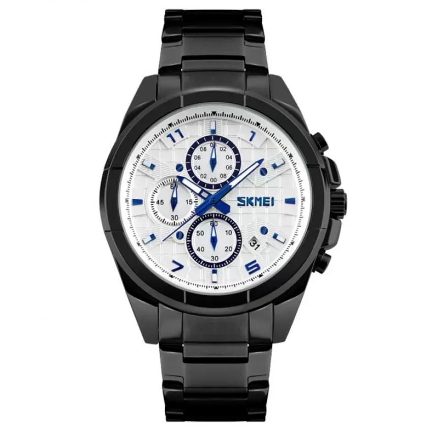 Đồng hồ nam dây inox ĐEN cao cấp SKMEI DHSK9109A( Mặt trắng) - 2597112 , 157830282 , 322_157830282 , 444000 , Dong-ho-nam-day-inox-DEN-cao-cap-SKMEI-DHSK9109A-Mat-trang-322_157830282 , shopee.vn , Đồng hồ nam dây inox ĐEN cao cấp SKMEI DHSK9109A( Mặt trắng)