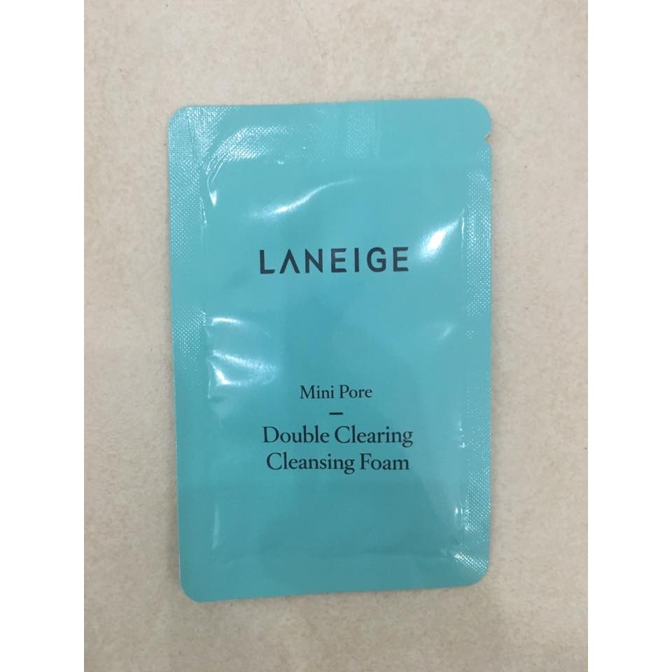 Sữa rửa mặt LANEIGE Pore Double Clearing Cleansing Foam Sample