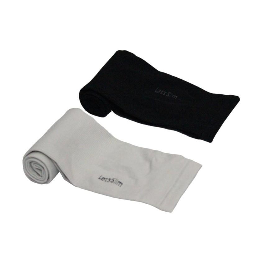 Bộ 2 cặp găng tay chống nắng UV xỏ ngón Lets Slim Aqua X (Đen phốixám)