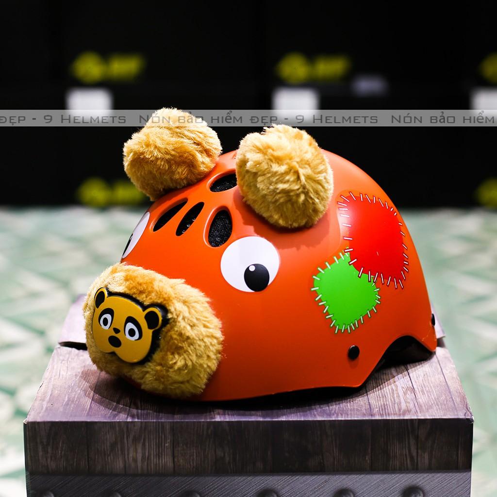 Mũ Bảo Hiểm Trẻ Em Gấu Cam