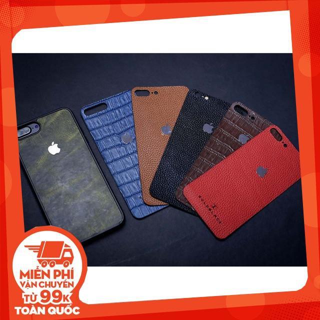 Miếng dán Skin Da Bò Cao Cấp GOLDBLACK IPhone 7/8/7Plus/8Plus/X - Bảo hành 12