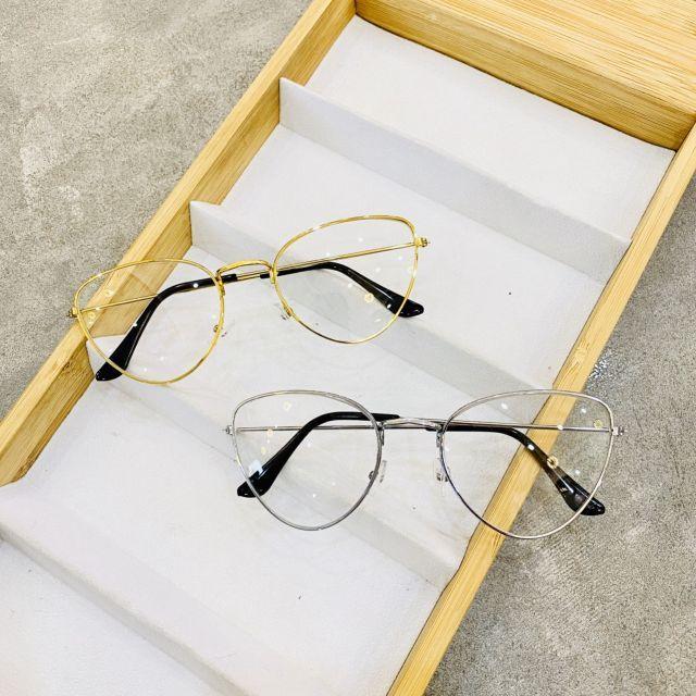 [Mã FAJGT8 giảm 15% đơn 99K] Mắt kính giả cận mắt mèo xếch