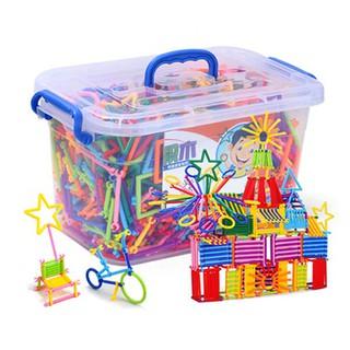 [SALE SẬP SÀN] đồ chơi cho bé – combo 4 Bộ đồ chơi lắp ghép xếp que thông minh | Bán Chạy