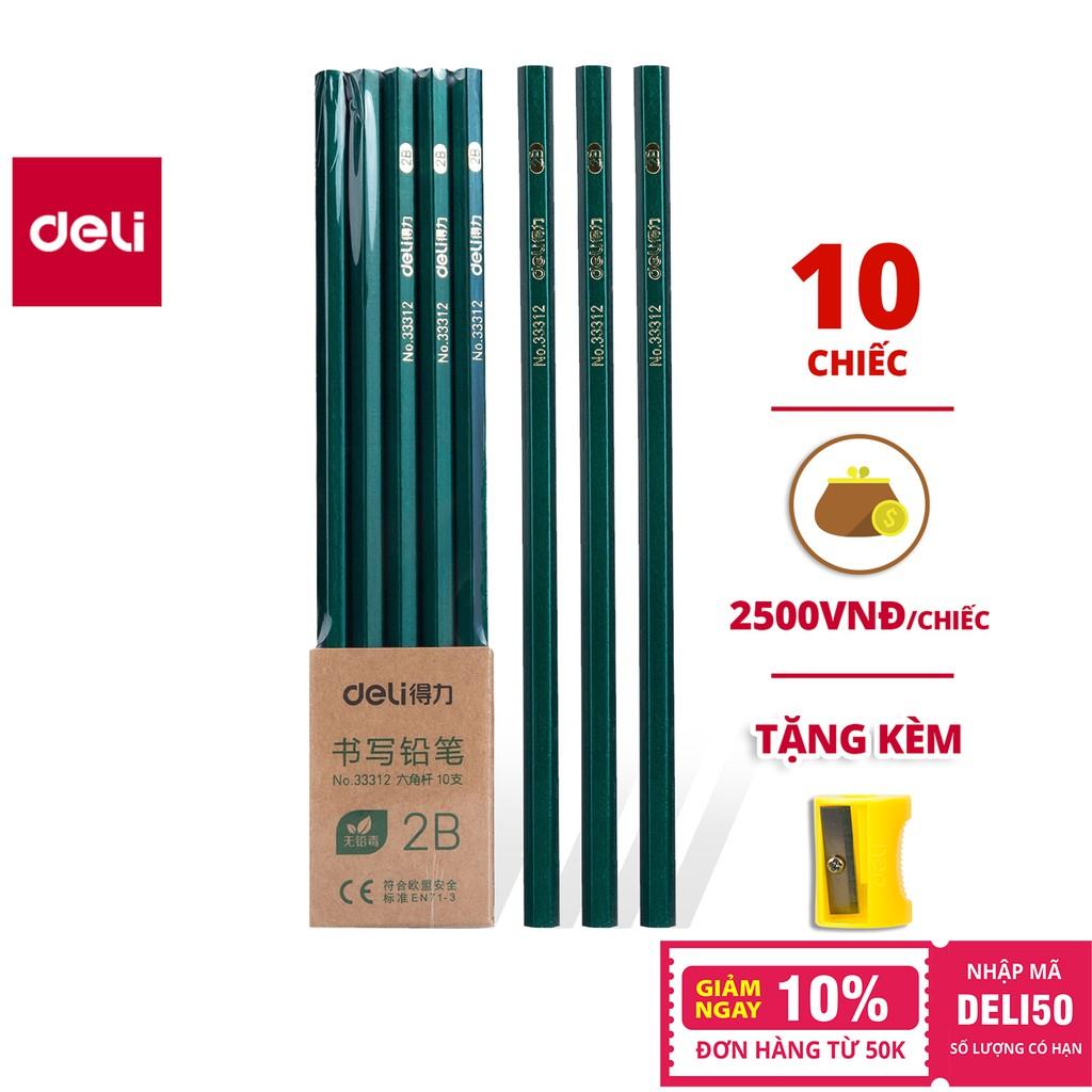Bút chì lục giác Deli - loại 2B/HB - 10 chiếc/hộp - 33311 / 33312