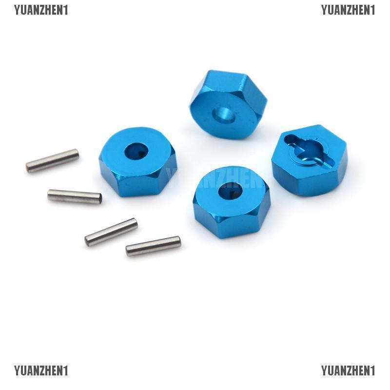 {YUANZHEN1}4pcs Aluminum Wheel Hex Nut 12MM With Pins Drive Hubs HSP 1/10 Upgrad