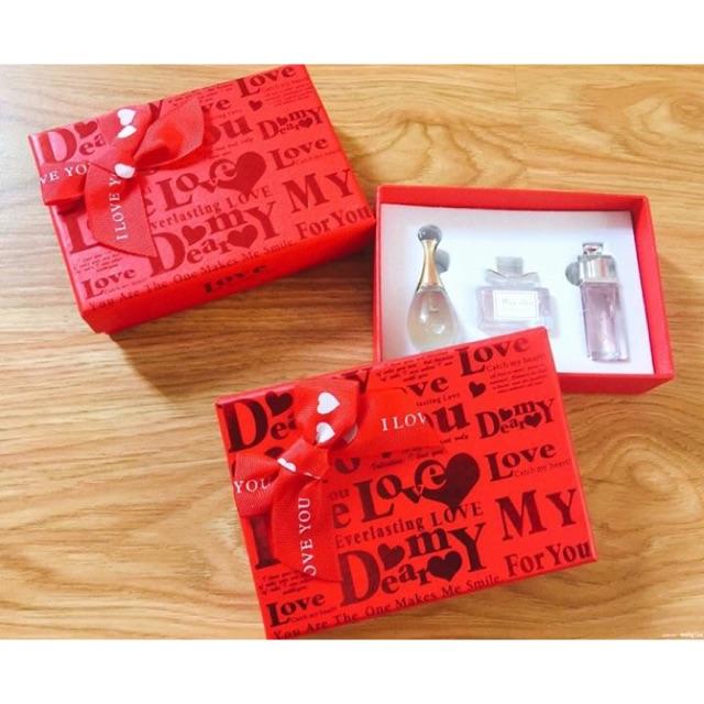 Bộ quà tặng 3 chai nước hoa Dior của Pháp