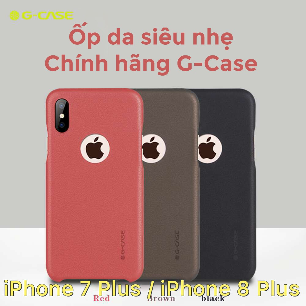 Ốp lưng bằng da siêu mỏng chính hãng G-Case cho iPhone 7 Plus / iPhone 8 Plus