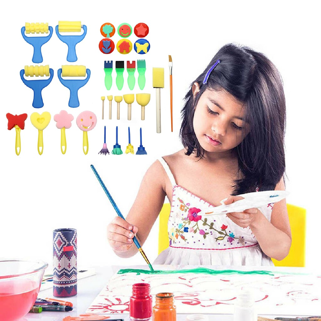 PL◇29Pcs Painting Brush Kids Manual Watercolor Drawing Set Education