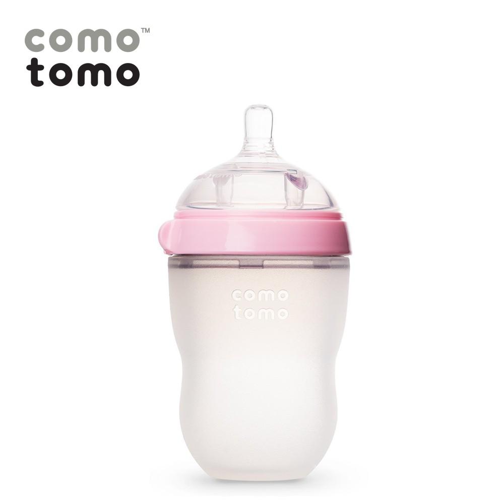 Bình sữa silicone Comotomo 250ml - Hồng
