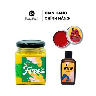 Combo Muối tắm BareSoul Free Body & Hair Scrub 300g + Dầu gội khô WOW dry shampoo 50g + Son dưỡng Lip Tint & Cheek 10g thumbnail