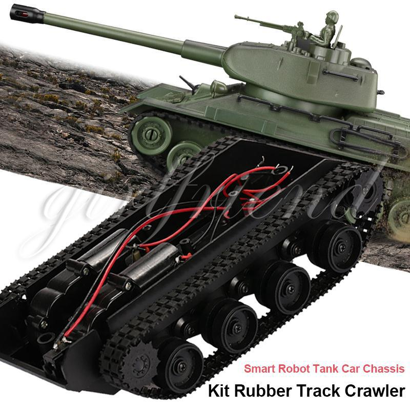 Tank Chassis Kit Premium Rubber Track Damping Effect Smart Robot Car Chassiskit