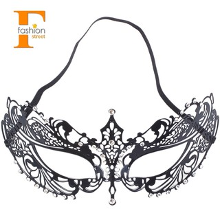 【FS】Venetian Style Laser Cut Metal Filigree Masquerade Party Mask Diamante