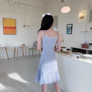 Bộ Áo Khoác Cardigan + Chân Váy Đuôi Cá Với Họa Tiết Ca Rô Xinh Xắn Dành Cho Nữ / Size M-4xl