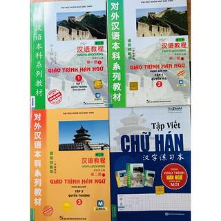 Sách - Combo Giáo Trình Hán Ngữ 1 + Hán ngữ 2 + Hán ngữ 3 + Tập Viết Chữ Hán Phiên Bản Mới
