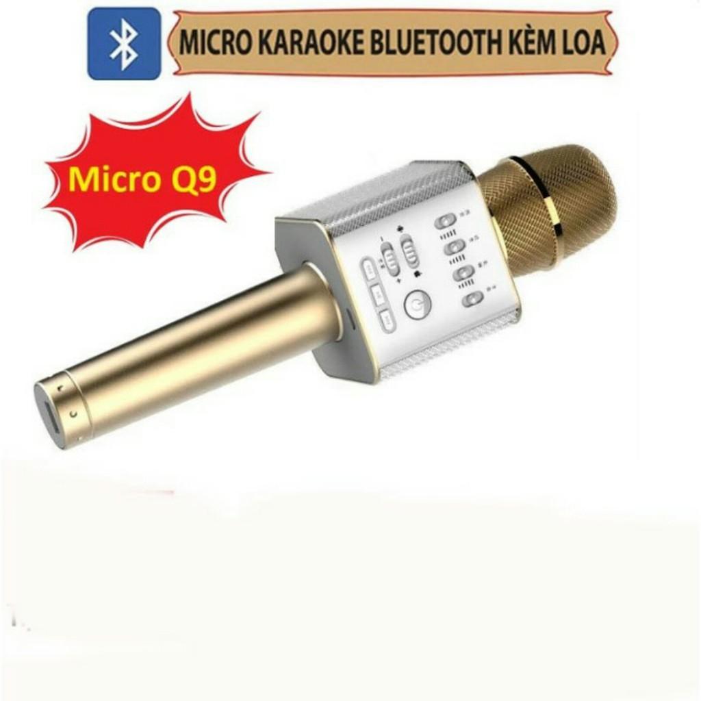 Mic hát kèm loa Bluetooth Q9 - 2878518 , 439084386 , 322_439084386 , 350000 , Mic-hat-kem-loa-Bluetooth-Q9-322_439084386 , shopee.vn , Mic hát kèm loa Bluetooth Q9