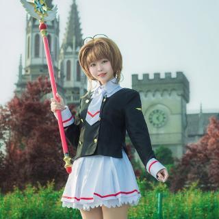 Thẻ ma thuật cô gái Sakura cos quần áo jk đồng phục Variety Sakura Avenue Temple Zhishi đồng phục học sinh trang phục cosplay